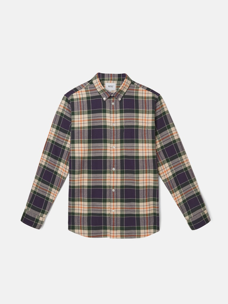 OLAVI CHECK l/s shirt regular fi