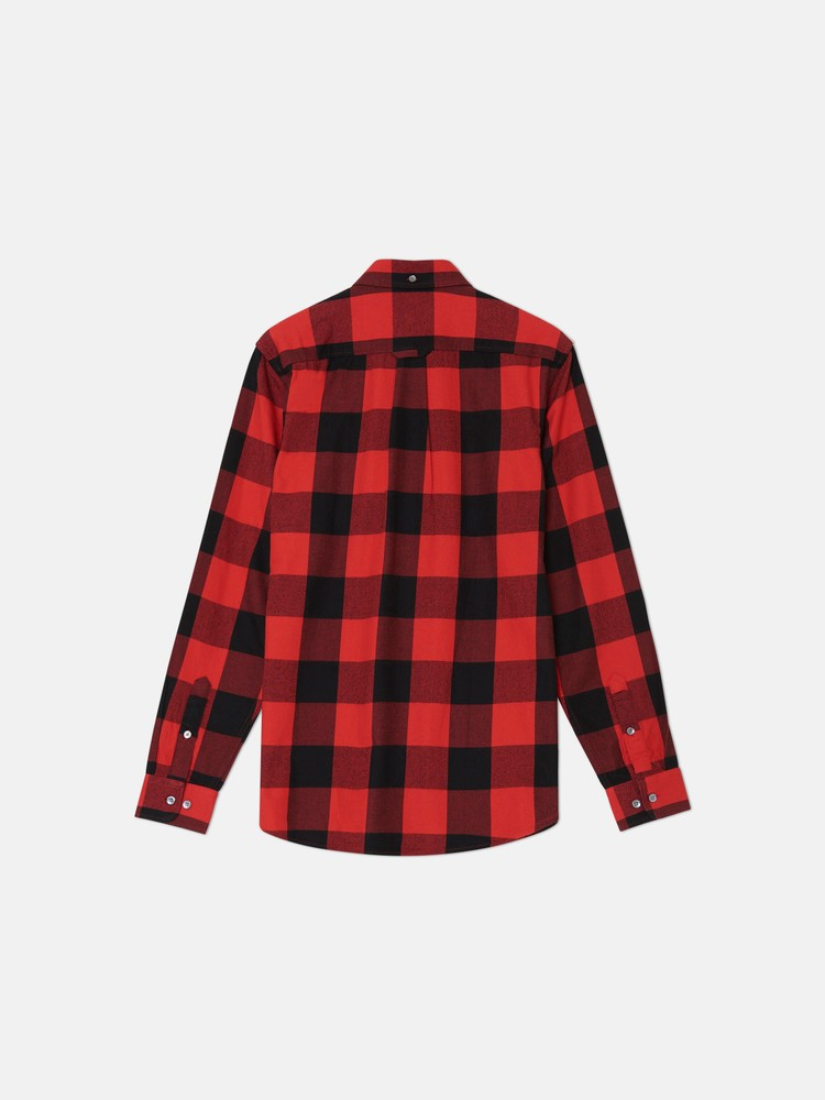 OLAVI PLAID l/s shirt regular fi