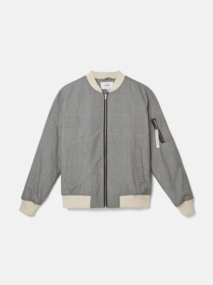 THE CHECKED BOMBER padded jacket