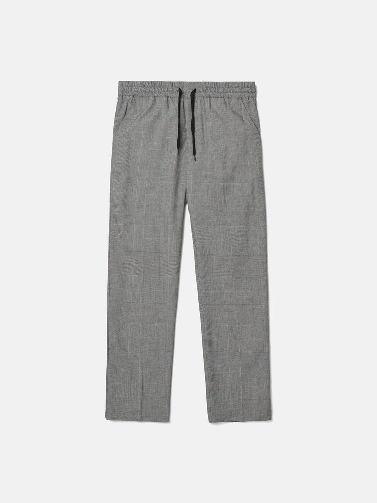 ACE CHECK relaxed trousers