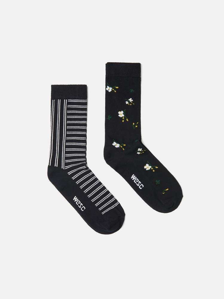 FASHION SOCK FLOWER 2-pack